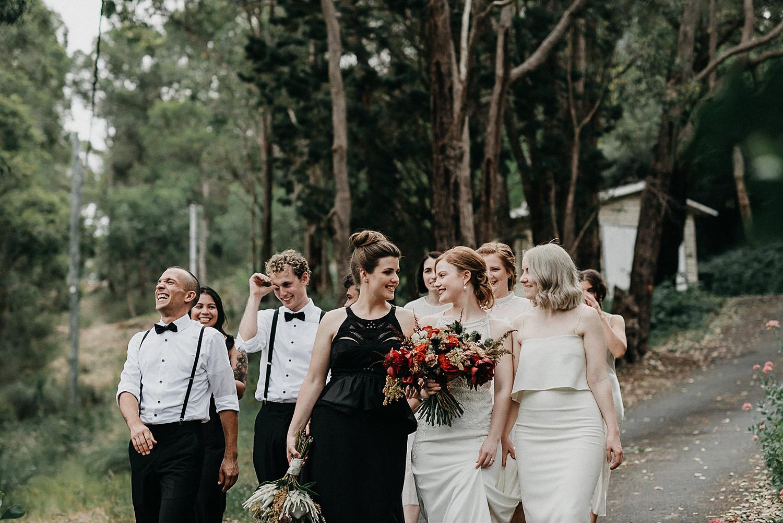 gay wedding bridal party couple